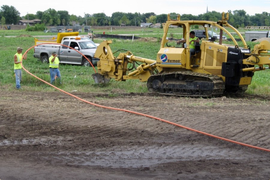 Conduit plow installation